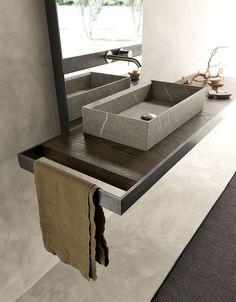 Bad Inspiration, Bathroom Inspiration, Modern Bathroom, Small Bathroom, Modern Sink, Bathroom Toilets, Bath Design, Bathroom Interior Design, Bathroom Furniture