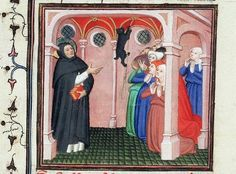 The Devil Appears to St. Dominico of Calerueja Folio 313 Le Miroir Historical cats in middle ages art The Devil Appears to St. Dominico of Calerueja Folio 313 Le Miroir Historical cats in middle ages art Medieval Manuscript, Medieval Art, Illuminated Manuscript, Saint Dominic, Manet, Black Cat Appreciation Day, Mean Cat, Bible Images, Book Of Hours