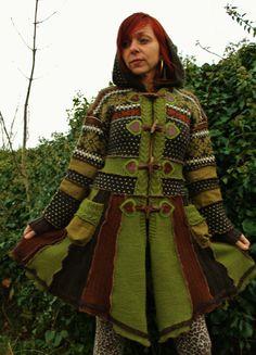 nordic woodland pixie gypsy hippie bohemian coat by linusmanus, €354.00