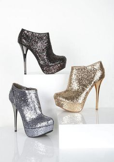 Glitter booties #glitter clothing #holiday boots