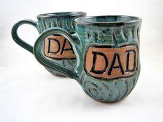 Ready to ship, Pottery mug, handmade ceramic mug, personalized mug, mug for DAD - In stock IN stock and ready to ship  MEDIA: Brown Stoneware
