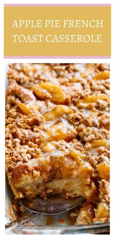 Apple Pie French Toast Casserole—dessert bake. This apple pie french toast is your two favorite things into one breakfast french toast and apple pie combined! You are going to love this delicious…