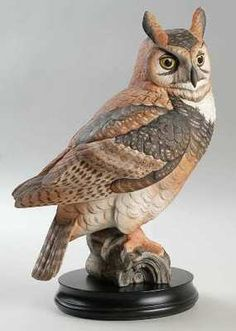 Goebel PORCELAIN BIRD FIGURINES Great Horned Owl    | Add to Watch list