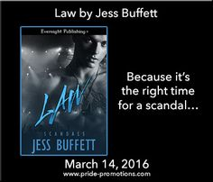 Hiya peeps, we now have Jess Buffett stopping by with her newest release Law, we have a great excerpt, a fantastic giveaway and Lisa's review so enjoy the post and click that giveaway link &l…