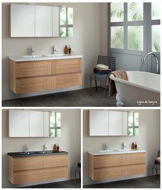 Découvrez une déclinaison de bois et de possibilités pour une salle de bain adaptée à vos envies. Les meubles assortis apporteront une touche zen et nature à votre pièce. Le + déco: indémodable, une touche de bambou et quelques plantes pour un effet nature et vivant. - lignum de Sanijura