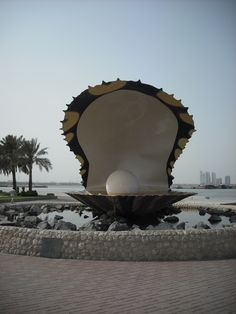 Qatar, giant clam!