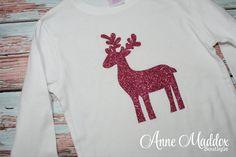 Glitter Reindeer Shirt, Christmas Shirt, Christmas Shirts for Girls, Toddler Christmas Shirt, Girl Christmas Shirt