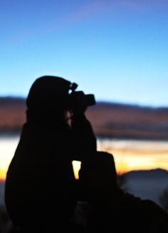 silhouette from the top of Bromo Mountain, when the sun goes up, it was totally amazing,