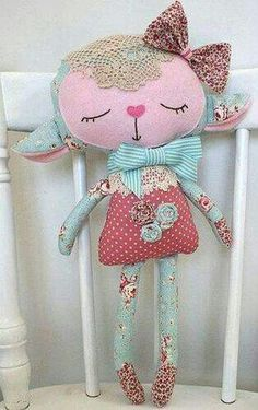 Sewing Toys * Dolls And Daydreams - Doll And Softie PDF Sewing Patterns: Handmade Easter: Lovely Lambs Fabric Toys, Fabric Crafts, Sewing Crafts, Sewing Projects, Paper Toys, Fabric Art, Softies, Pdf Sewing Patterns, Doll Patterns