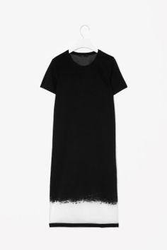 COS gradient sheer dress
