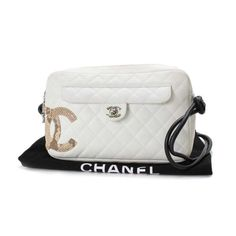 CHANEL Camera Bag Cambon Shoulder bags White Leather A28120