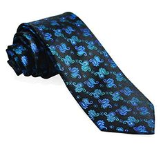 Blue-Turquoise Silk Necktie Set by Paul Malone