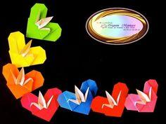 Origami Maniacs 107: Origami Crane Heart - YouTube