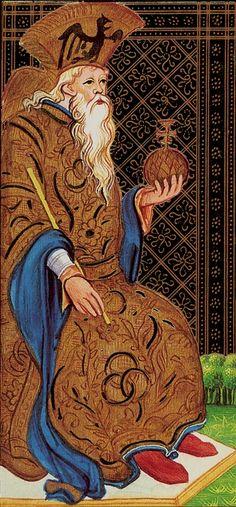 The Emperor - Visconti Tarot