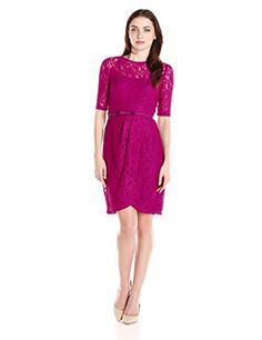 Gabby Skye Women's Short Sleeve Lace Dress, Raspberry, 6 Gabby Skye http://www.amazon.com/dp/B014X3B1N4/ref=cm_sw_r_pi_dp_UCnTwb05E0DFV