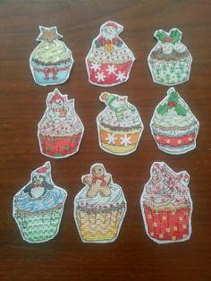 LaGrif Bijoux Geometrie e altre creazioni by Maria Cristina Grifone. Cupcakes di Natale. Handmade by LaGrif