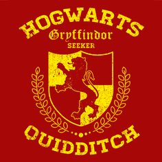 Gryffindor Quidditch T-Shirt Harry Potter Funny Textual Tees