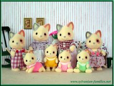 Whiskers Calico Cat Family