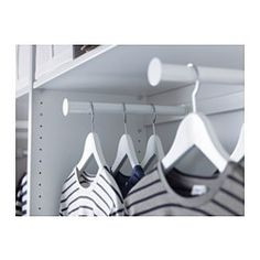 KOMPLEMENT Pull-out clothes rail, white - white - 100x35 cm - IKEA