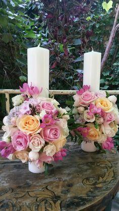 Wedding Bouquets, Wedding Flowers, Baptism Candle, Pillar Candles, Nasa, Pup, Weddings, Bride, Wedding Bride