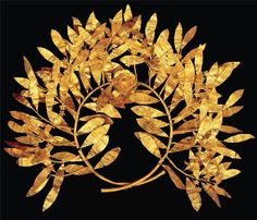 Gold Wreath of Ancient Greece, II century B. C.