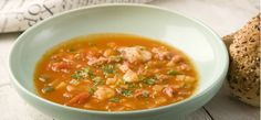 Rice, milk and vegetables make for a great base for this delicious crab soup