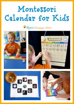 A beautiful hands-on Montessori calendar for kids to learn about the concept of time. Also, included is an amazing Montessori giveaway worth $200!