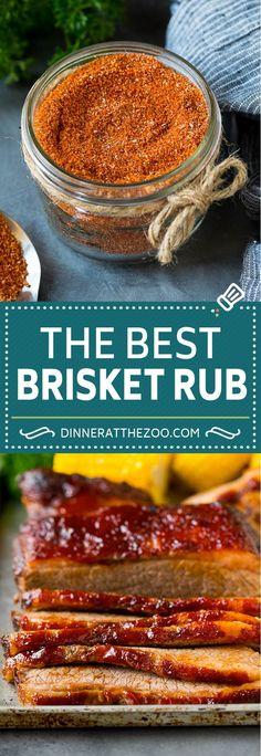 Brisket Rub Recipe - Dinner at the Zoo Baked Brisket, Beef Brisket Recipes, Bbq Brisket, Smoked Beef Brisket, Grilling Recipes, Cooking Recipes, Traeger Recipes, Weber Brisket Recipe, Steak Recipes