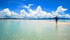Coastline of the capital of Palawan, Philippines. Puerto Princesa City is Honda Bay.