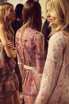 backstage at isabel marant