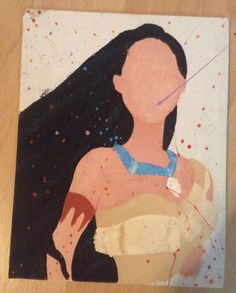 Disney Pocahontas Abstract Painting on Canvas by EverythingFangirl