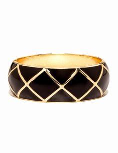Lattice Enameled Hinged Bracelet from THELIMITED.com