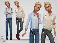Trendy outfit exclusively for smart boys :D  Found in TSR Category 'Sims 4 Male Child Everyday'
