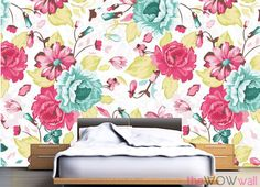 Abstract & Pattern Wall Murals designed with Floral Arrangement