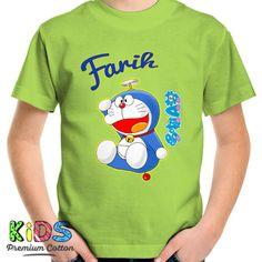 Kaos Custom Doraemon For Kids DTG