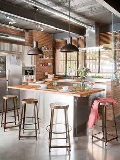 3b490d58fedf Elegantes y Originales Diseños para el Desayunador de tu Hogar desayunador,  decoracion, interiores ,