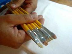 Video pintura para iniciantes parte 1 - primeiros passos