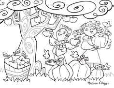 Apple Printable Coloring Page for Kids