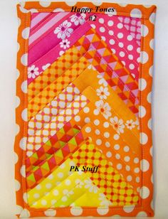 PK Quilted Plate Pad in Happy Tones 2  Pot Holder  Hot by PKStuff, $5.00