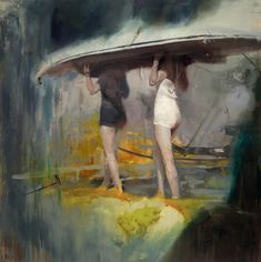 The Soft, Memory-Laden Oil Paintings of Joshua Flint The oil paintings of Joshua Flint look like depictions of memories when one tries too hard to access the faded thoughts—worn corners, blurred. Figure Painting, Painting & Drawing, Illustrations, Illustration Art, Colossal Art, Sculpture, Beautiful Paintings, Painting Inspiration, Art Inspo