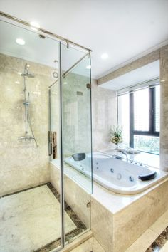 Master bath tile Commercial Window Cleaning, Window Cleaning Services, Master Bath Tile, Bath Tiles, Shower Enclosure, Window Cleaner, Bathroom Renovations, Bathroom Ideas, Kitchen And Bath