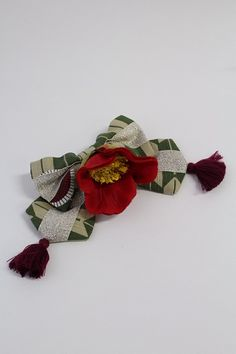 Metamorphose: Romantic Kimono camelia / tsubaki hairclip