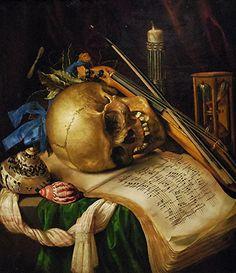 Simon Renanrd de Saint-André, Vanité | Flickr - Photo Sharing! Skull Painting, Painting Prints, Art Prints, Memento Mori Art, Vanitas Paintings, Vanitas Vanitatum, Dance Of Death, Art Ancien, Dark Art