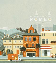Illustration - Romeo by Charlie Davis, via Behance