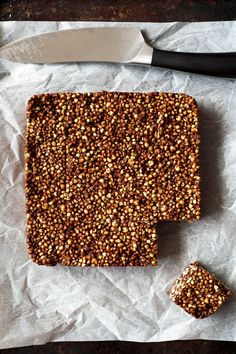 A quick, easy, no bake treat! Made with puffed gluten free seeds, buckwheat, orange and cacao butter! Vegan and gluten free. Raw Desserts, Healthy Desserts, Healthy Recipes, Vegan Treats, Healthy Treats, Gluten Free Baking, Healthy Baking, Fudge, Mousse