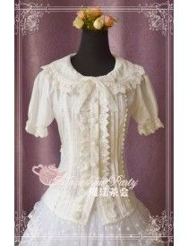 Magic Tea Party ***Cultivates qi*** Cotton Lace Lolita Blouse Short Version