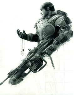 Marcus Fenix - Gears of War - Gears of War Ultimate Edition Clayton Carmine, Video Game Art, Video Games, Gears Of War 3, War Tattoo, Gear 4, War Image, Geek Squad, Video Game Characters