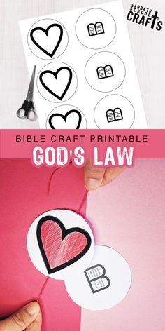 """The 10 commandments were summarized into two laws by Jesus, """"Love God… and love others."""" This paper spinner is perfect to show children to keep that law hidden in their hearts. Source by sabbathschoolcrafts Bible Activities For Kids, Bible Crafts For Kids, Bible Study For Kids, Bible Lessons For Kids, Preschool Bible Lessons, Sunday School Crafts For Kids, Bible School Crafts, 10 Commandments Craft, Jesus Crafts"""
