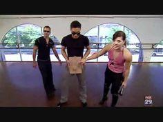 "Sara and Danny's Argentine Tango Se3Eo18. - lol @ clipboard in practice. <3 the ""pretzel"" flip."
