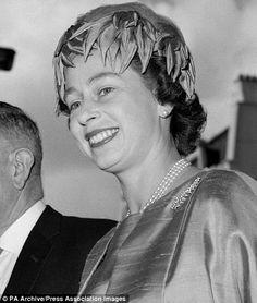 Queen Elizabeth arriving to open the new New Zealand House in London in 1963 wearing fern broach.